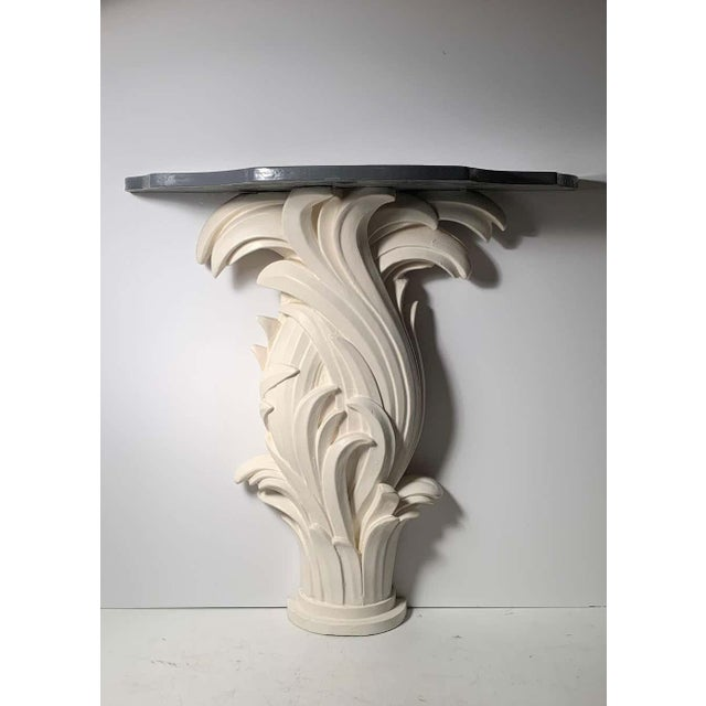 Mid 20th Century Vintage Plaster Console in manner of Serge Roche For Sale - Image 5 of 13