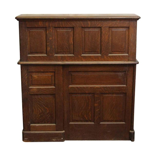 Oak Roll Top Desk with Original Finish - Image 7 of 7