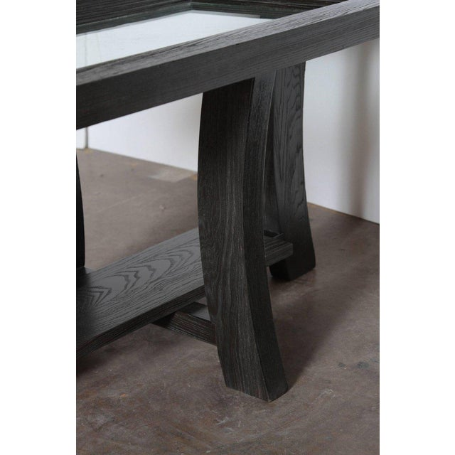 Post Art Deco Cerused Oak Side Table by Brown Saltman Paul Frankl For Sale - Image 10 of 11