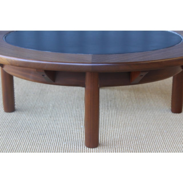 Mahogany Coffee Table With Slate Top For Sale In Los Angeles - Image 6 of 9