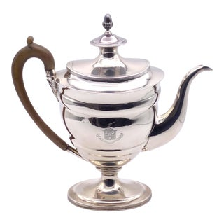 George III Sterling Silver Coffee Pot For Sale