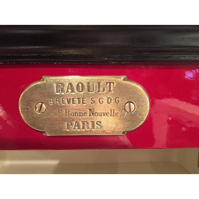 19th Century Parisian Iron Safe Box with Keys & Combination - Image 4 of 10