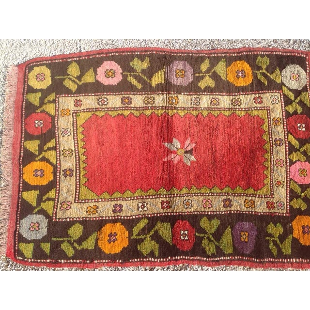 "Vintage Anatolian Rug - 2'5"" x 3'3"" For Sale - Image 4 of 6"
