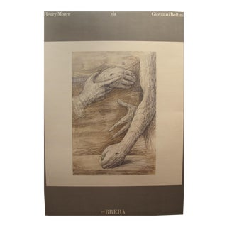 1975 Henry Moore Italian Exhibition Poster For Sale