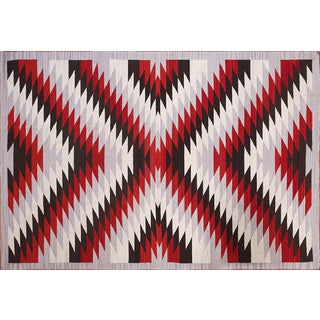 Navajo Style Wool Rug - 6′ × 9 For Sale