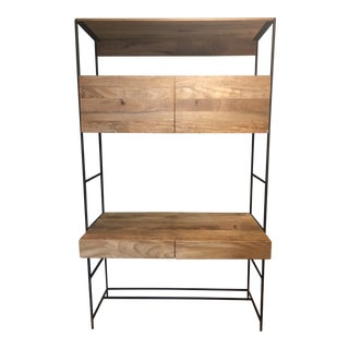 West Elm Mid-Century Industrial Modular Desk For Sale