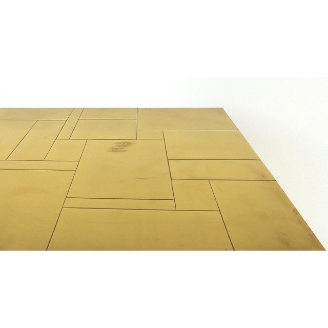 Paul Evans Directional Brass Cityscape Credenza Cabinet With 2 Doors For Sale In Miami - Image 6 of 10