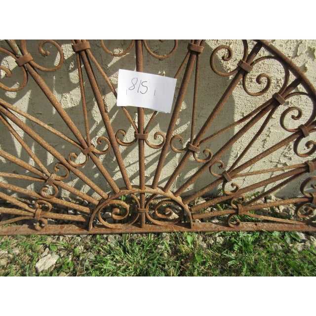 Antique Victorian Iron Gate Architectural Element - Image 3 of 7