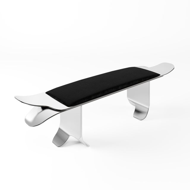 Flip Bench by Artist Troy Smith - Contemporary Design - Artist Proof - Custom Furniture 21st Century Contemporary Hand...