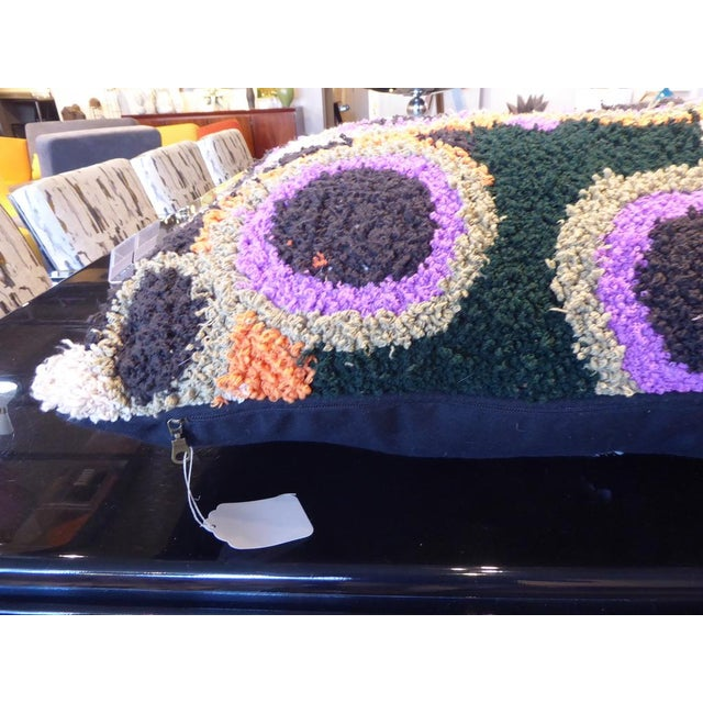 One-Of-A-Kind Large Hand-Woven Moroccan Pillow For Sale In Palm Springs - Image 6 of 10