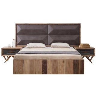 Mario Grande Upholstered Wood Bed King For Sale