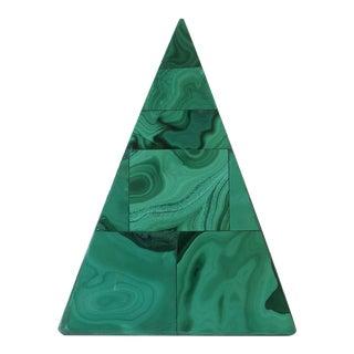 Green Malachite Pyramid For Sale