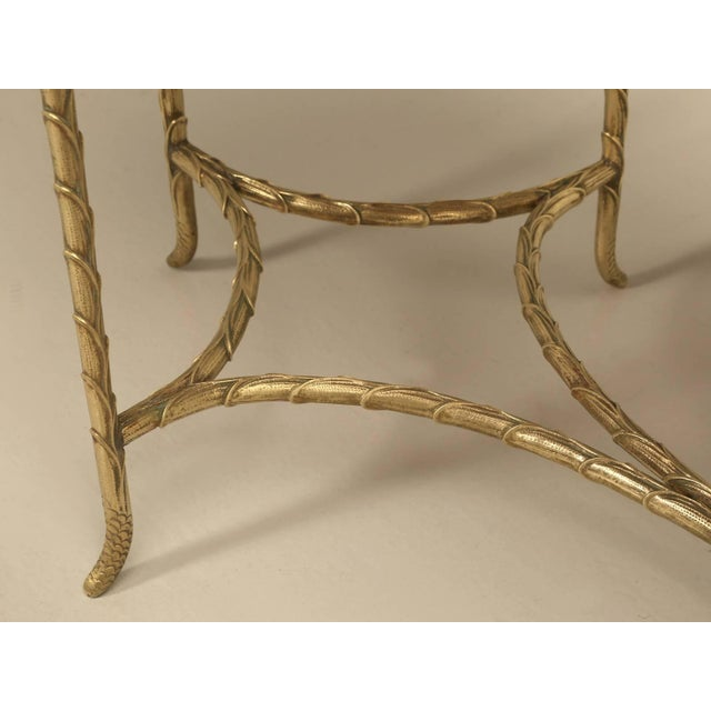 French Bronze Bamboo Style Coffee Table Attributed to Bagues For Sale In Chicago - Image 6 of 9