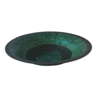 Carl Sorensen Verdigris Patina Bronze Bowl For Sale