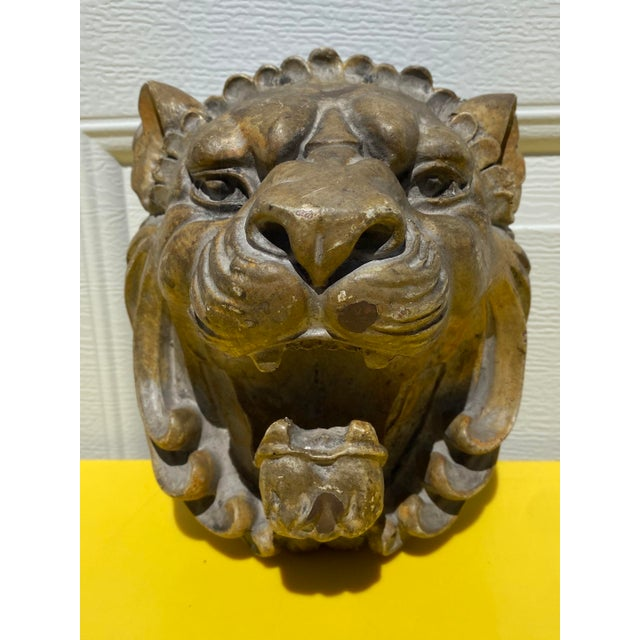 Early 21st Century Resin Lion Head Wall Hook For Sale - Image 5 of 5
