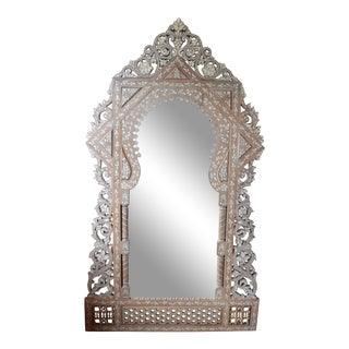 Syrian Mother-Of-Pearl Inlaid Mirror For Sale