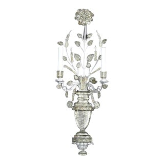 Pair of Maison Bagues Crystal Wall Lights For Sale