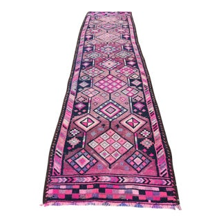 1960s Vintage Lavender Moon Turkish Runner- 2′10″ × 11′10″ For Sale