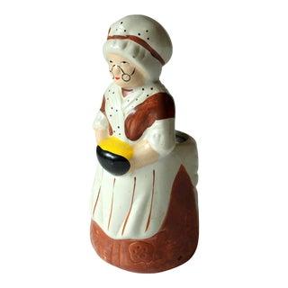 Vintage Ceramic Handmade Spoon and Utensil Holder For Sale