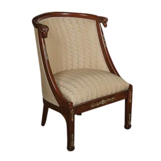 Late 19th Century Antique Empire Style Chair For Sale