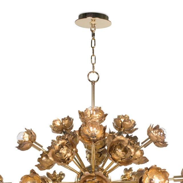 Boasting gold blossom-like accents throughout this piece is a forward-thinking work of art. The abstract yet thoughtful...