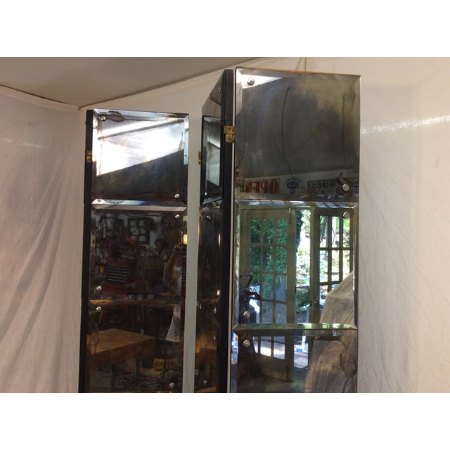 Mid-Century Modern Mirrored Four-Panel Screen - Image 5 of 11