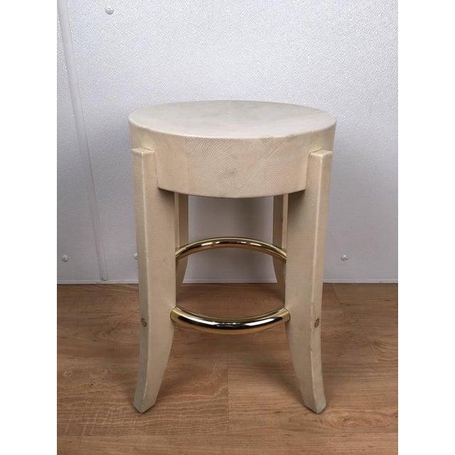 Karl Springer Albino Python Side Table - Image 4 of 12