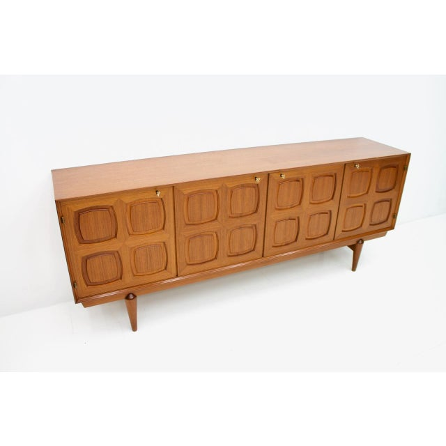 Mid-Century Modern Graphic Teak Sideboard by Rastad & Relling for Bahus Norway 1960s For Sale - Image 3 of 9