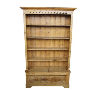 Antique English Solid Pine Open Bookcase Preview