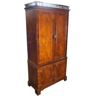 Century Furniture Chippendale Style Mahogany Dry Bar For Sale