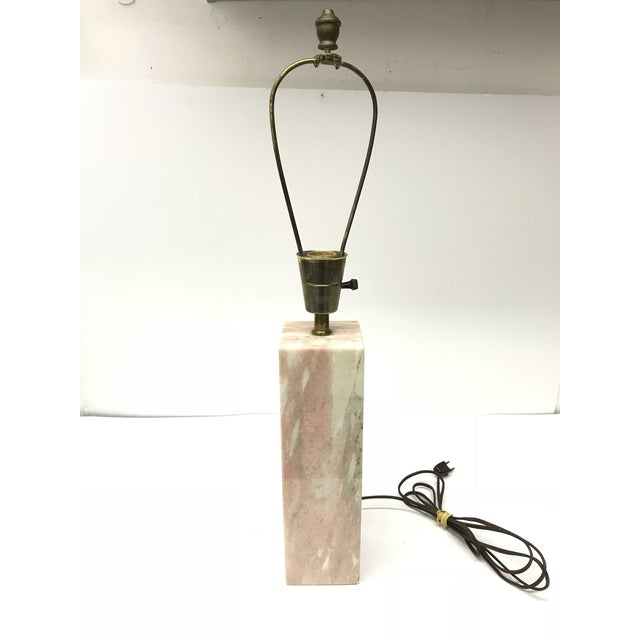 Marble Vermarco Vermont Pink Marble Lamp For Sale - Image 7 of 7