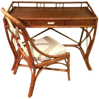 Great Looking Bamboo Desk and Matching Chair
