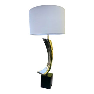 Midcentury Modern Maurizio Tempestini Brutalist Table Lamp For Sale