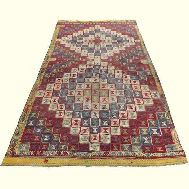 Vintage Turkish Kilim Cicim Flatweave- 5'' x 8'9'' - Image 2 of 5