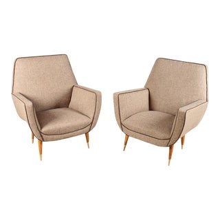 Pair of Italian Mid-Century Modern Chairs For Sale