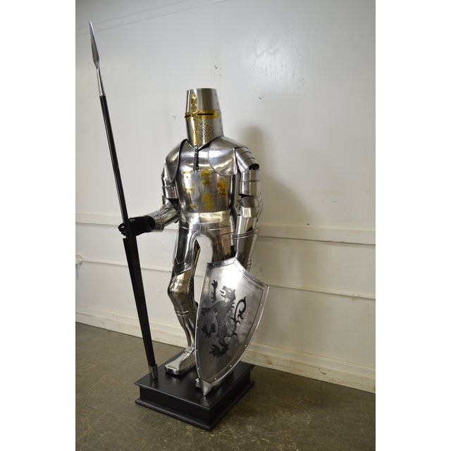 Metal Crusader Knight Authentic Full Size Replica Jousting Suit of Armor For Sale - Image 7 of 11