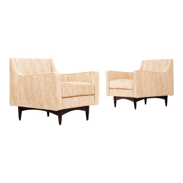 Mid-Century Modern Pair of Woven Lounge Chairs For Sale - Image 3 of 14