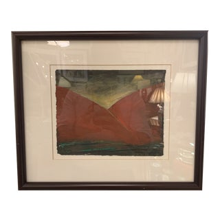 """Marc Ellen Hamel Original Artwork Framed """"Red Hills"""" For Sale"""