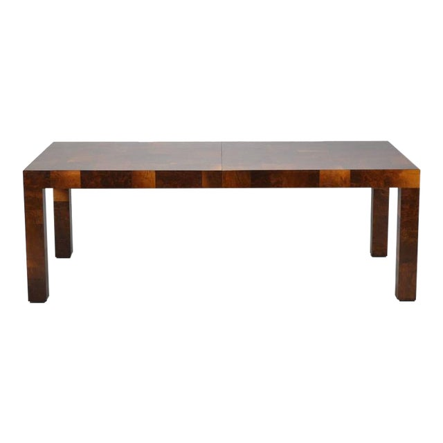 Paul Evans Parsons Table in Burl Patchwork For Sale