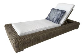 Image of Gray Single Outdoor Chaise Lounges