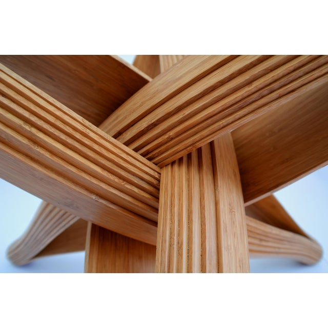Mid-Century Modern Lock Bamboo Dining Table Base For Sale - Image 11 of 13