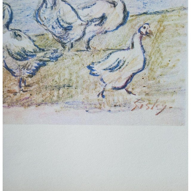Lithograph 1959 Lithograph of Geese by Alfred Sisley For Sale - Image 7 of 11