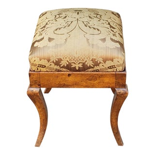 Antique 19th Century Biedermeier Style Upholstered Footstool C1820 For Sale
