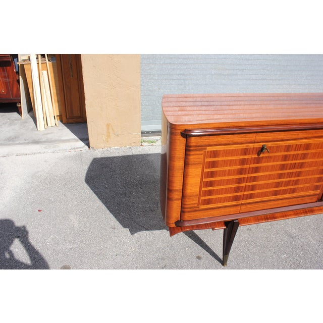 French Art Deco Macassar Ebony Sideboard Credenza For Sale - Image 4 of 13