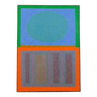 1960s Vintage John Almquist Abstract Mid-Century Modern Oil on Canvas Painting For Sale