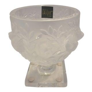 Lalique Elisabeth Crystal Vase For Sale