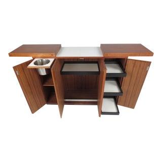 Scandinavian Modern Expandable Bar Cabinet
