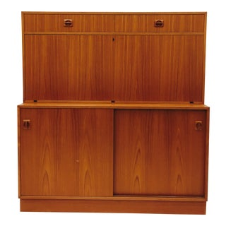 Vintage Danish Modern Fall-Front Secretary Desk