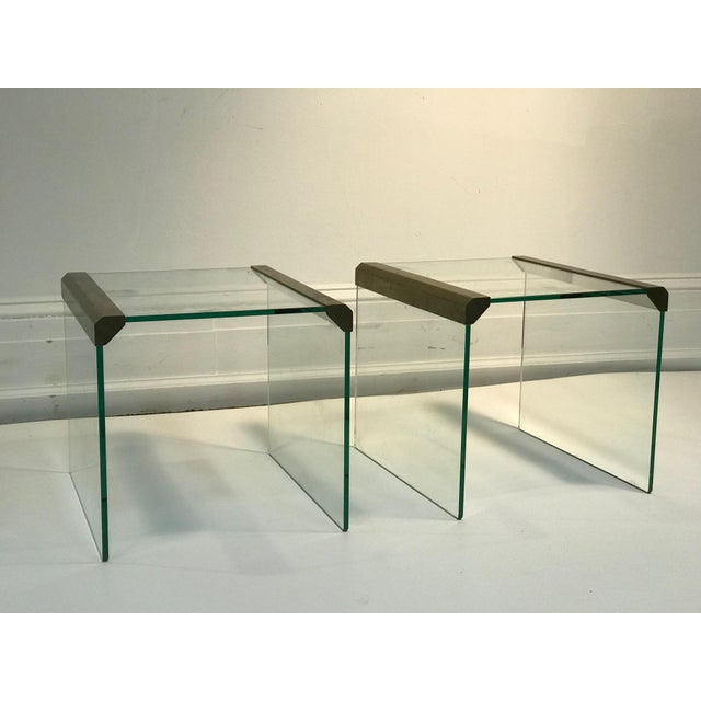1970s Pace Collection Waterfall Side Tables or Accent Tables - a Pair For Sale In Philadelphia - Image 6 of 6