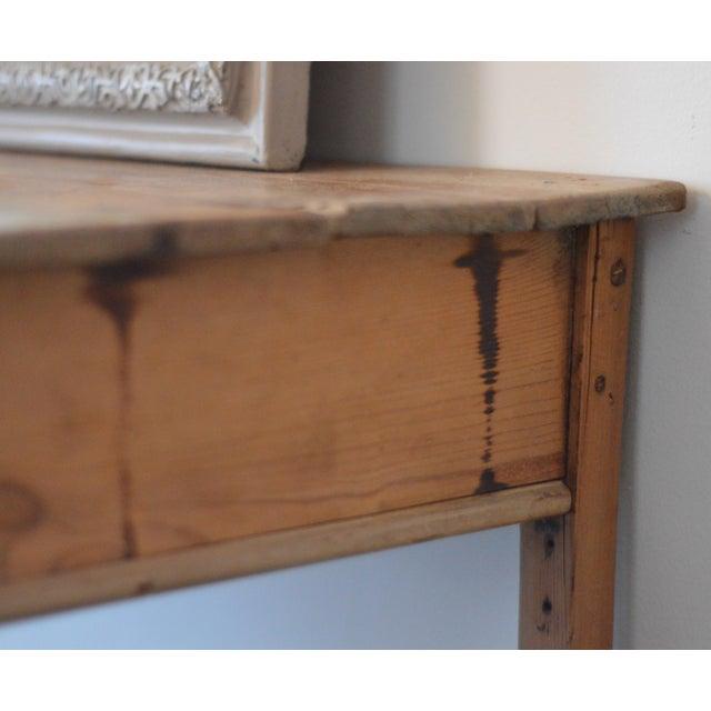 Antique French Farmhouse Pine Desk - Image 7 of 8
